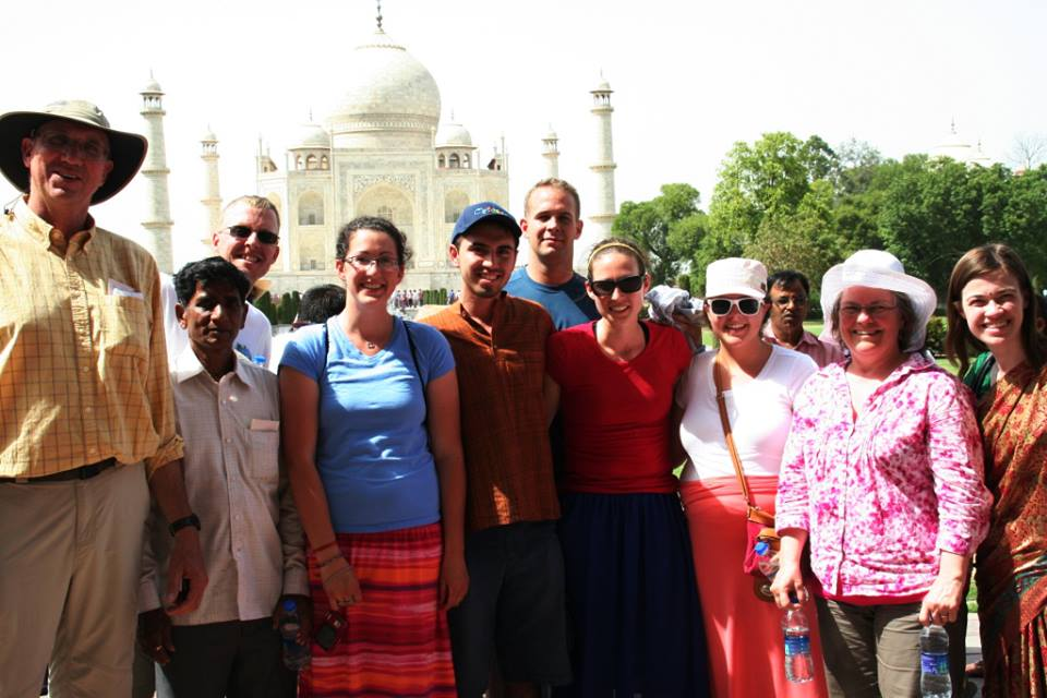 BC group in front of the Taj Mahal