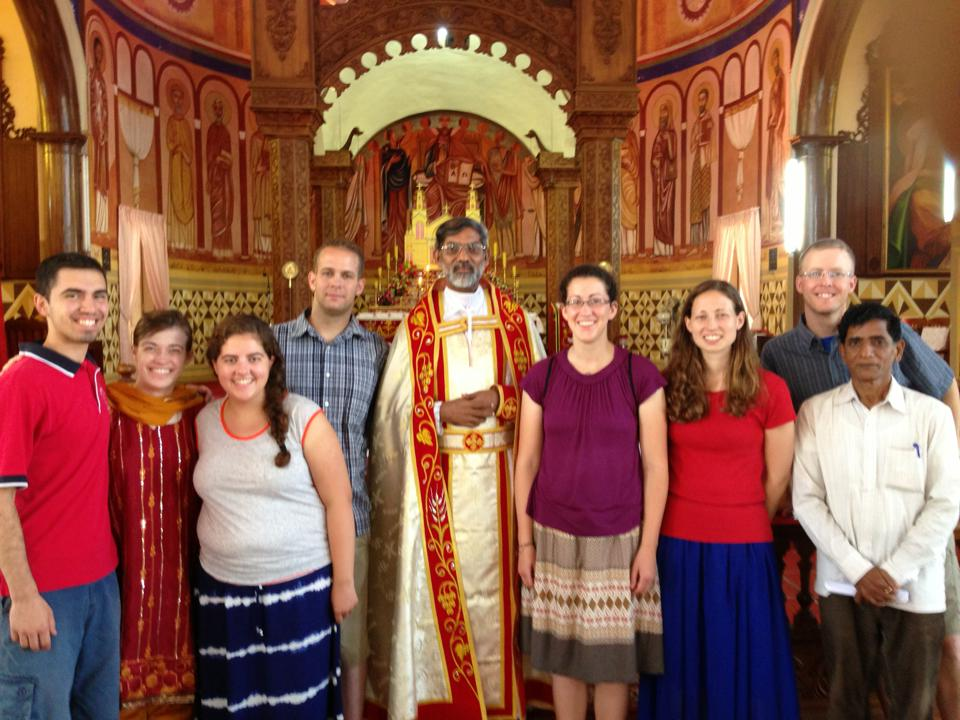BC group with Fr. Matthew after celebrating the Syro-Malankara Qurabana